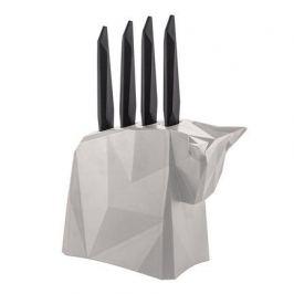 Набор ножей для стейков Pablo, в серой подставке, 5 пр 2995632 Koziol