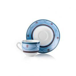 Набор кофейных пар Blue Servizio Caffe Jardin (100 мл), 12 пр. 52194 Fade