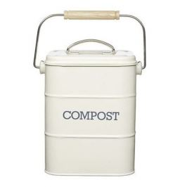 Бак для мусора Living Nostalgia (3 л), 16.5х12х24 см, белый LNCOMPCRE Kitchen Craft
