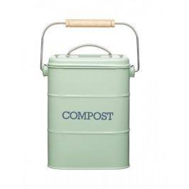 Бак для мусора Living Nostalgia green (3 л), 16.5х12х24 см, зеленый LNCOMPGRN Kitchen Craft