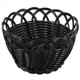 Корзинка для хлеба Belvedere, 20х9 см, круг фестоны, черный B919080 Viejo Valle