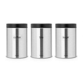 Набор контейнеров (1.4 л), матовые стальные, 3 шт. 314926 Brabantia