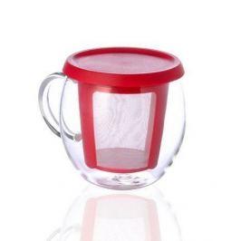 Кружка Mio (0.35 л), 9х12 см, красный 22776 Kinto