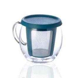 Кружка Mio (0.35 л), 9х12 см, голубой 22777 Kinto