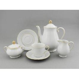 Сервиз кофейный Верона с золотом, 15 пр. 67160714-1139 Leander