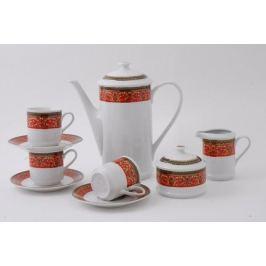 Сервиз кофейный Сабина Красная лента, 15 пр. 02160714-0979 Leander