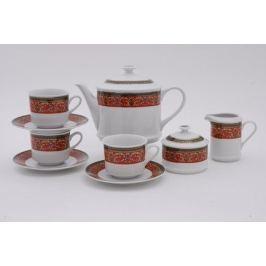 Сервиз чайный Сабина Красная лента, 15 пр. 02160725-0979 Leander