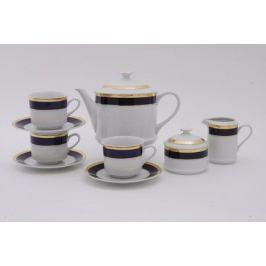 Сервиз чайный Сабина Сине-золотая лента, 15 пр. 02160725-0767 Leander