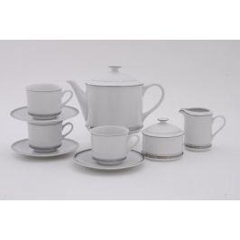 Сервиз чайный Сабина Изящная платина, 15 пр. 02160725-0011 Leander