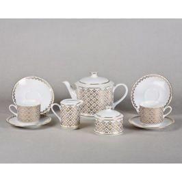 Сервиз чайный Сабина Ажурная позолота, 15 пр. 02160725-2328 Leander