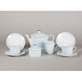 Сервиз чайный Сабина Светло-голубой орнамент, 15 пр. 02160725-243C Leander
