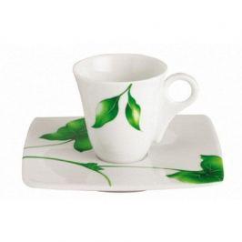 Чашка Vegetal с блюдцем для кофе (moka cup) 140227 Guy Degrenne