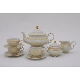 Сервиз чайный Соната Изящное золото, 15 пр., слоновая кость 07560725-1239 Leander