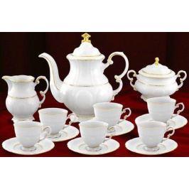 Сервиз кофейный мокко Соната Тонкое золото, 15 пр. 07160713-1139 Leander