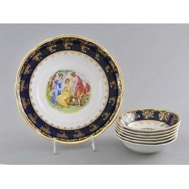 Набор салатников Мэри-Энн Темно-синяя окантовка с пасторалью 7 пр 03161416-0179 Leander