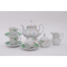 Сервиз чайный Мэри-Энн Зелень и золото, 15 пр. 03160725-1381 Leander