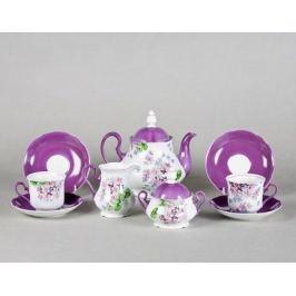Сервиз чайный Мэри-Энн Первая сирень, 15 пр. 03160725-2391 Leander