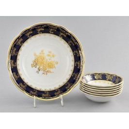 Набор салатников Мэри-Энн Темно-синяя окантовка с золотом, 7 пр. 03161416-0431 Leander