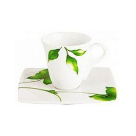 Чашка Vegetal с блюдцем для кофе (100 мл) 140223 Guy Degrenne