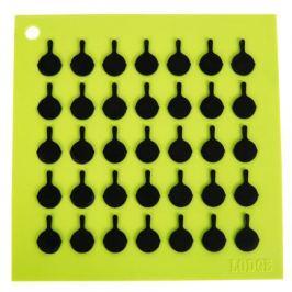 Подставка квадратная с логотипом сковороды, 19 см, зеленая AS7S51 Lodge