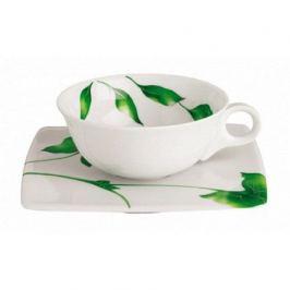 Чашка Vegetal с блюдцем для чая низкая (150 мл) 140235 Guy Degrenne