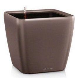 Кашпо Квадро 50 LS, кофе, с системой полива и съемным горшком 16281 Lechuza