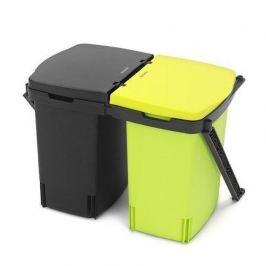 Ведро для мусора (2х10 л) встраиваемое, 31.5х28х42.3 см, черное 482205 Brabantia