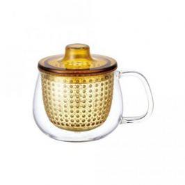 Кружка-чайник Unimug (0.35 л), 7.8х9 см, янтарный 22915 Kinto