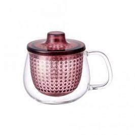 Кружка-чайник Unimug (0.35 л), 7.8х9 см, розовый 22914 Kinto