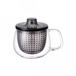 Кружка-чайник Unimug (0.35 л), 7.8х9 см, серый 22917 Kinto