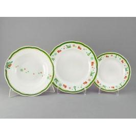 Набор тарелок Мэри-Энн Новогодний, 18 пр. 03160119-2573 Leander