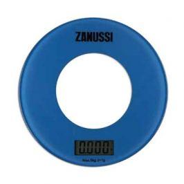 Весы кухонные цифровые Bologna, 18х18х1.8 см, синие ZSE21221EF Zanussi