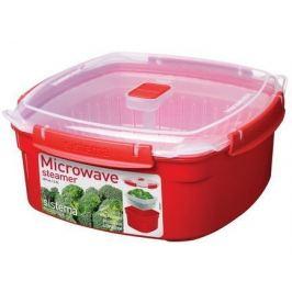 Контейнер Microwave (3.2 л) 23.8х23.8х10.7см, квадратный, красный 1103 Sistema