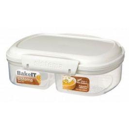 Контейнер двойной Bake IT (630 мл), 17.6х13.2х6 см, белый 1210 Sistema