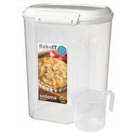 Контейнер с чашкой Bake IT (3.25 л), 17.6х13.2х23 см, белый 1250 Sistema