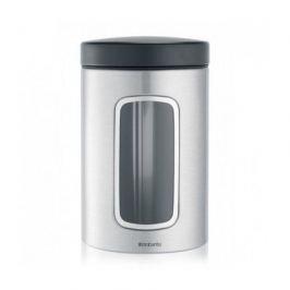 Контейнер для сыпучих продуктов с окном (1.4 л), матовый стальной 299247 Brabantia