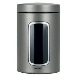 Контейнер для сыпучих продуктов с окном (1.4 л), платиновый 288425 Brabantia