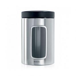 Контейнер для сыпучихпродуктов с окном (1.4л), стальной 132803 Brabantia