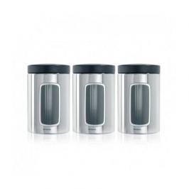Набор контейнеров с окном (1.4 л), стальные полированные, 3 шт. 247286 Brabantia
