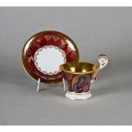 Чашка высокая Улрика (0.2 л) с блюдцем 39120415-A569 Leander