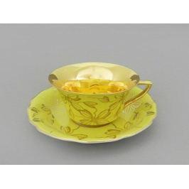 Чашка низкая Виндзор (0.15 л) с блюдцем, желтая 13120424-L411 Leander
