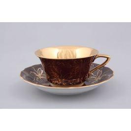 Чашка низкая Виндзор (0.15 л) с блюдцем 13120424-E411 Leander
