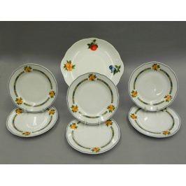 Сервиз для торта Мэри-Энн Фруктовые сады, 7 пр. 03161019-080H Leander
