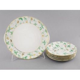 Сервиз для торта Мэри-Энн Зелень и золото, 7 пр. 03161019-1381 Leander