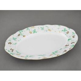 Блюдо овальное Мэри-Энн Зелень и золото, 36 см 03111513-1381 Leander