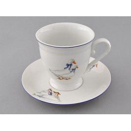 Чашка высокая Гуси (0.3 л) с блюдцем 36120417-0807 Leander