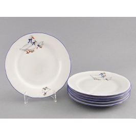 Набор тарелок десертных Гуси, 17 см, 6 шт. 03160317-0807 Leander