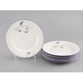 Набор тарелок мелких Гуси, 19 см, 6 шт. 03160319-0807 Leander