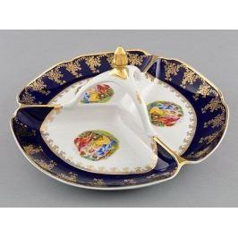 Менажница Мэри-Энн Темно-синяя окантовка с пасторалью, 29.5 см 03116438-0179 Leander