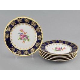 Набор тарелок мелких Мэри-Энн Темно-синяя окантовка 19 см, 6 шт. 03160319-0086 Leander